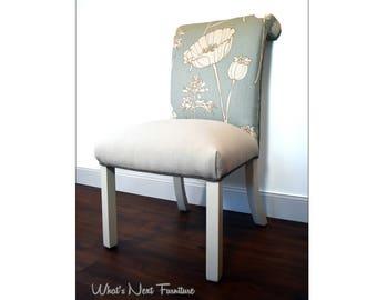 Custom Order Vintage Upholstered Wing Back Chair