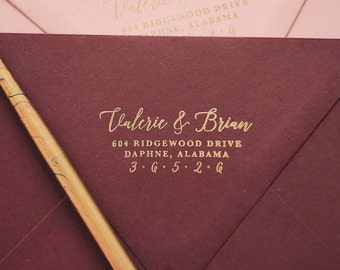 Calligraphy Address Stamp Gift for Newlyweds