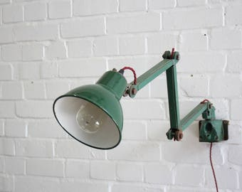 Wall Mounted 3 Arm Task Lamp By EDL Circa 1950s