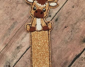 Moose Bookmark - In The Hoop - DIGITAL EMBROIDERY Design