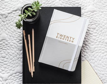 2018 Daily Planner | White/Stone - Daily To do - 2018 Planner - Daily Planner - Daily Diary - Stationery - To Do list planner