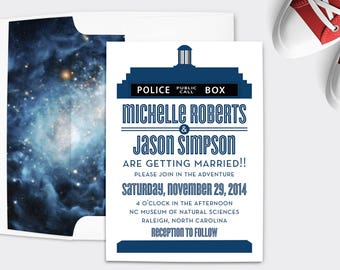 Doctor Who Invite | Etsy
