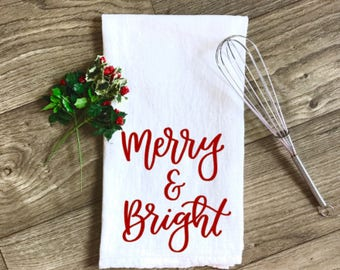 Merry & Bright - Tea Towel