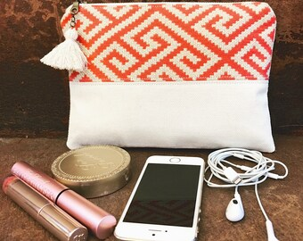 Coral and Beige Ultimate Clutch