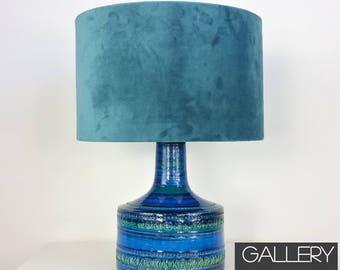 Sale Vintage Bitossi Rimini Blue Tulip Pottery Table Lamp Aldo Londi Italy 1960's  SW19 Italian Ceramic Lamp