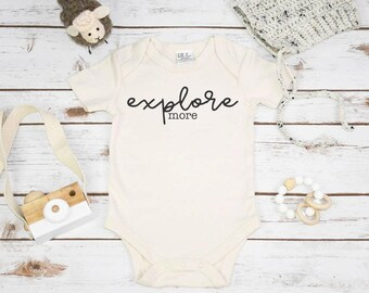 Organic Baby, EXPLORE MORE, Organic Baby Clothes, Baby Shower Gift, Organic Baby Gifts, Organic Baby, Organic Bodysuit, Organic Mom Gifts