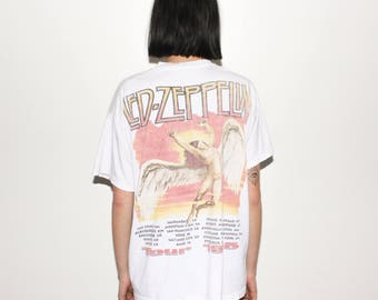1995 Jimmy Page And Robert Plant Led Zeppelin 90s Tour T Shirt