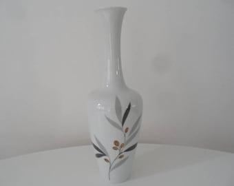 Heinrich porcelain Gemmo vase,handcut porcelain vase,Selb Bavaria collectible porcelain,longneck vase