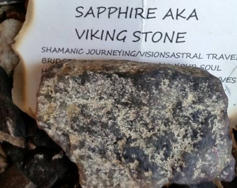 Iolite Stone Specimen.Water Sapphire.Viking Stone.Bridges Dimensions.For Shamanic Journeying/Astral Travel.Brings Leadership Skills Forward.