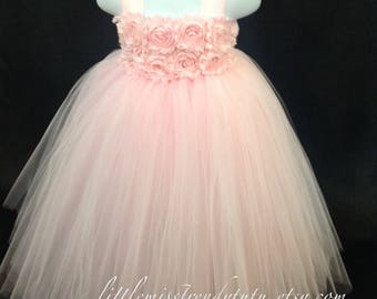 Pink Tutu Dress, Pink Flower Girl Dress, Flower Girl Tutu Dress, Flower Girl Dress, Pink Tutu, Light Pink Tutu Dress, Girls Tutu, Girl Dress
