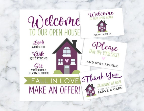 realtor welcome to our open house printables please sign in, Powerpoint templates