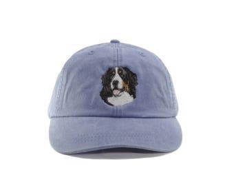 Bernese Mountain Dog embroidered hat, baseball cap, dog lover gift, pet mom cap, dog, dad hat, mom, dog agility, dog lover hat