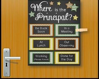 Assistant Principal Gift Idea Office Door Sign Printable