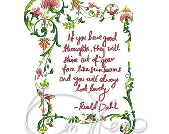 MACHINE EMBROIDERY DESIGN - Dahl phrase