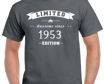 65th Birthday T-Shirt - 65th Birthday Gift - 65 Years Old - 65 Year Old Birthday Shirt - Turning 65 - 65th Birthday Party Shirt - Born 1953