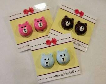 Kids Earrings (Clip-Ons) Beary Pretty Bears