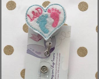 labor and delivery Retractable reel badge- obgyn gift- obgyn reel badge- delivery nurse badge-nicu nurse badge-labor and delivery nurse gift
