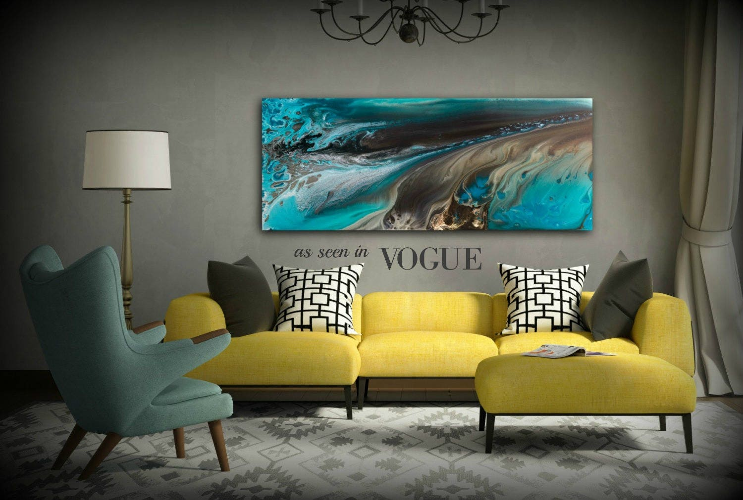 Giclee prints art abstract painting coastal home decor for Beach house prints