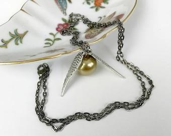 Golden Snitch necklace, Harry Potter necklace, Harry Potter jewelry