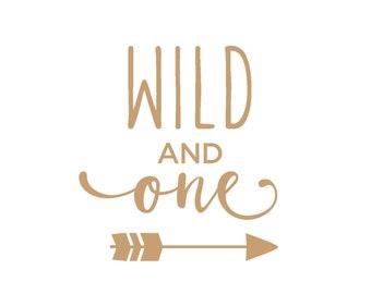 Wild One Arrow Wood Sign - Wood Sign Art - Wooden Sign - Laser Cut - Wood Decor - Raising Wild Things Sign - Nursery Decor - First Birthday