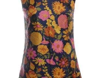 Vintage 1960's Floral Mini Dress 10 - www.brickvintage.com