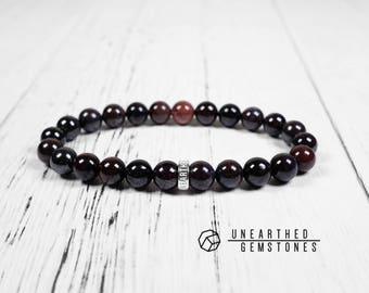 Dark Sugilite Bracelet - Gemstone Bracelet, Men Bracelet, Women Bracelet, Sugilite Jewelry, Stone Bracelet
