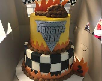 Monster Jam Cake Decorating Kit