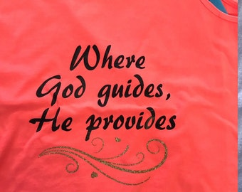 where god leads he provides tank top