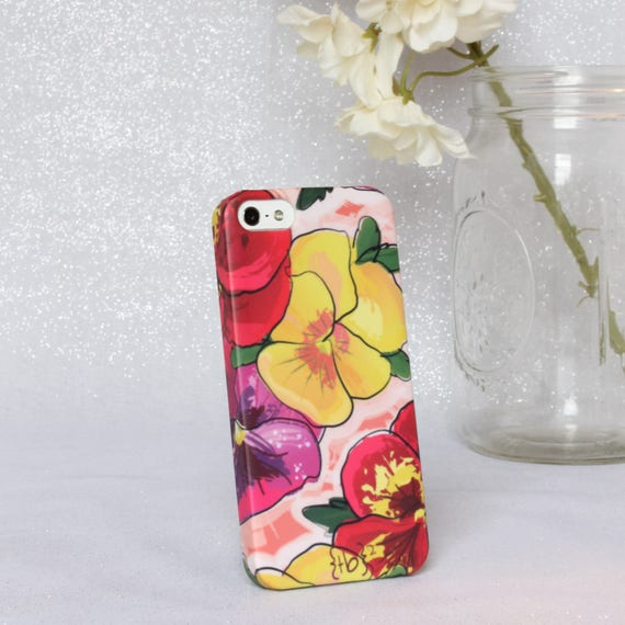 Pansy iPhone 5 Case - Floral iPhone 5 Case - Floral iPhone Case – Yellow Red Pink and Purple Flower iPhone 5 Case