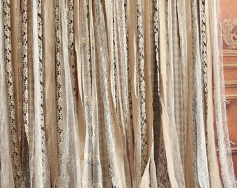 Shabby chic shower curtain | Etsy