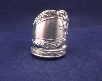 "Handmade Spoon Ring 1900 ""Webster""  Spoon Jewelry Size 9.5 FREE SHIPPING"