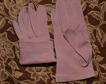 Vintage Crescendoe Gloves Pink Cotton Size 6 1/2