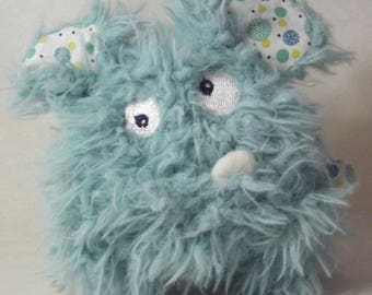 Blue hairy Monster Plushie original, unique and sweet