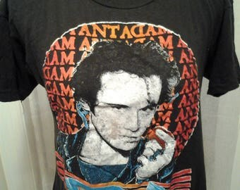 80's Vintage Adam Ant In Concert  T-shirt Destroyed Paper Thin New Wave Band S M