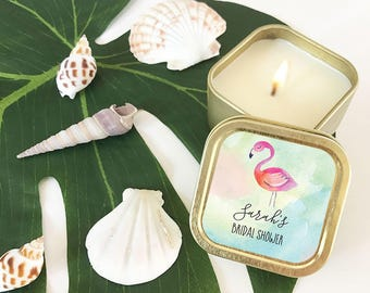 Flamingo Bachelorette Party - Beach Bridal Shower Favors - Tropical Wedding Favors - Beach Bride  (EB3211TPB) - 12| pcs