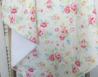 Floral Baby Cuddle Blanket