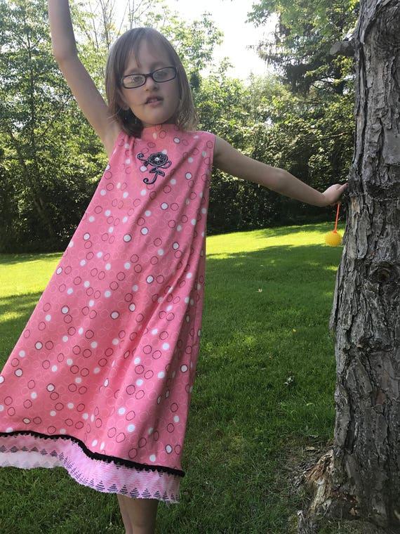 Girls sundress/girls organic knit dress/girls knit sundress/girls dress/girls summer dress/girls organic clothes/toddler sundress