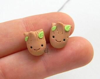 Groot stud earrings, Stud Earrings, lobo