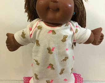 "Cabbage Patch Doll Clothes 16 inch Doll, Adorable ""KITTY CAT FRIENDS"" Nightgown, 16 inch Cabbage Patch Clothes, Fits 15 inch Bitty Baby"