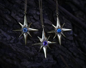 Guiding Stars Brass and Gemstone Necklaces