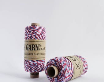 1 spool baker's twine in red, white and blue airmail 45m