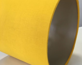 Sparkling Mustard Lampshade with Gold Lining