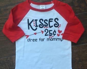 Toddler / Boys Kisses Valentine's Day Shirt