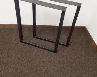 Steel table legs etsy for Square iron table legs