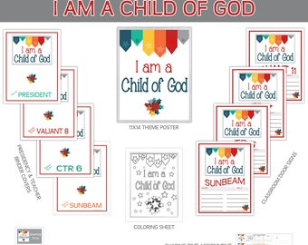 2018 Primary Sharing Time Bundle I am a child of God 2018 Primary theme LDS Child of God STARS