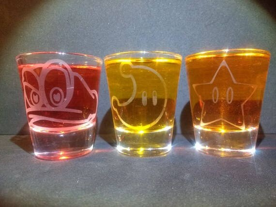 Mario Odyssey shot glasses set of 3