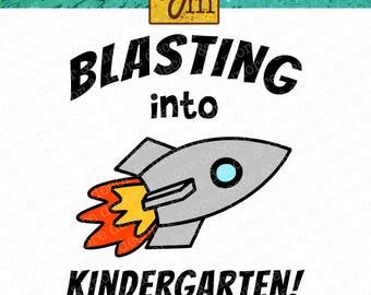 KINDERGARTEN SVG FILE. Back to School Svg File. Svg File for First Day of Kindergarten Shirt. Kindergarten Svg for Cricut or Silhouette.