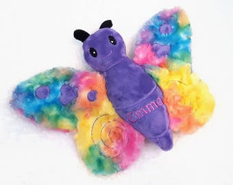 Personalized Baby Gifts, Newborn Coming Home, Rainbow Baby, Butterfly Stuffed Animal, Rainbow Plush, Personalized Stuffed Animal for Baby