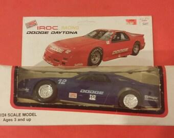 IROC Racing, Blue #12 DODGE DAYTONA 1/24 Scale, Plastic Car, 1990