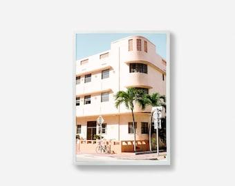 Miami Photo Print, Photographic Print, Architecture Photo, Pastel Print, Pink Art, Travel Photography, Wall Decor, Pastel Wall Art, Print